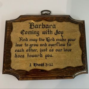 Barbara 1 Thess 3:12 Wood Sign